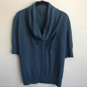 Ann Taylor Cowl Neck Button Front Cardigan Size XS